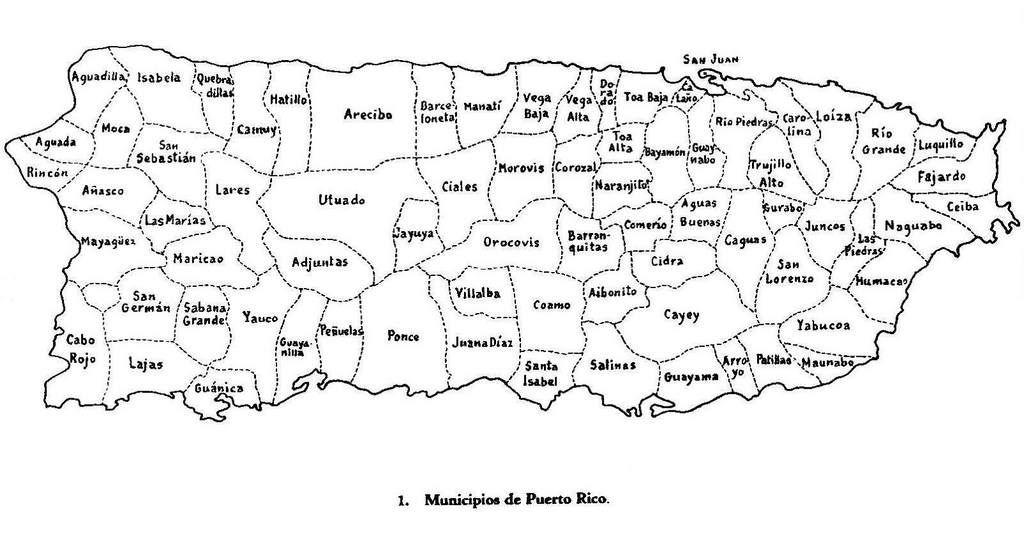 Mapa De Puerto Rico Con Los Municipios Google Search Puerto