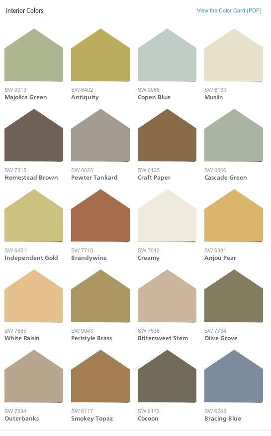 Rustic Color Schemes Sherwin Williams