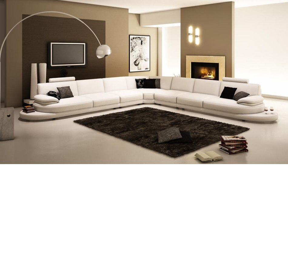 954 Contemporary Italian Leather Sectional Sofa Modern Leather