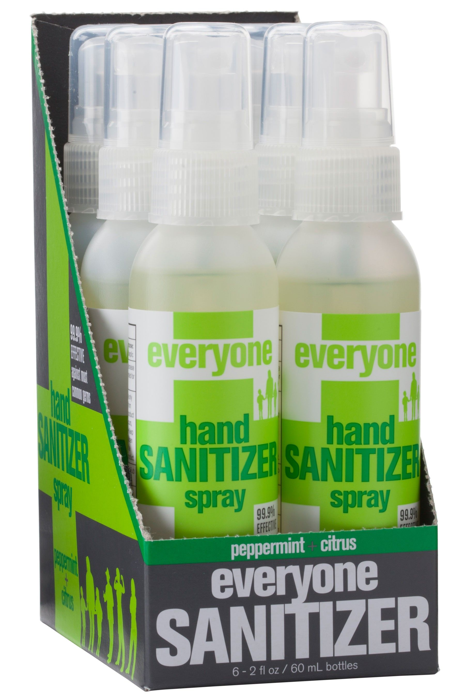 Hand Sanitizer Spray 6 Pack Peppermint Citrus 6 Ct 2 Fl Oz