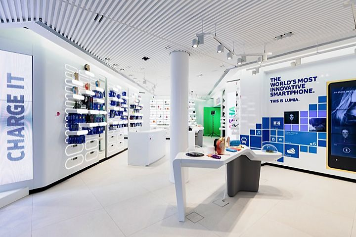 nokia flagship store by sundae creative 1retailproject helsinki store design ie pinterest. Black Bedroom Furniture Sets. Home Design Ideas