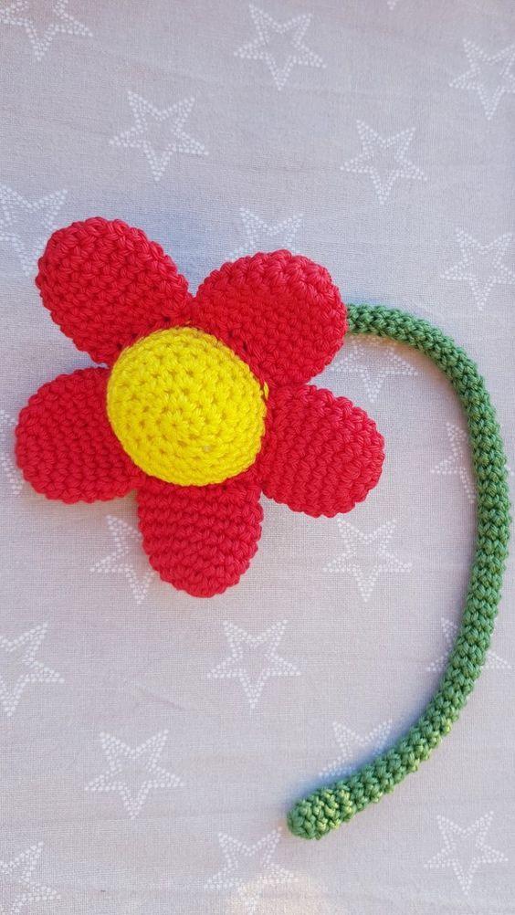 Kostenlose Anleitung zum Häkeln von Blumen in 3D | Baby | Pinterest ...