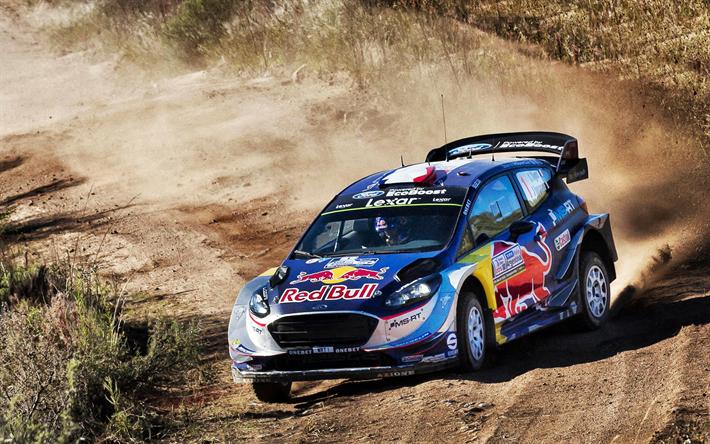 Lataa kuva Sebastien Ogier, 4k, WRC, M-Sport WRT, ralli, Maailman Ralli Mestari, Ford Fiesta WRC