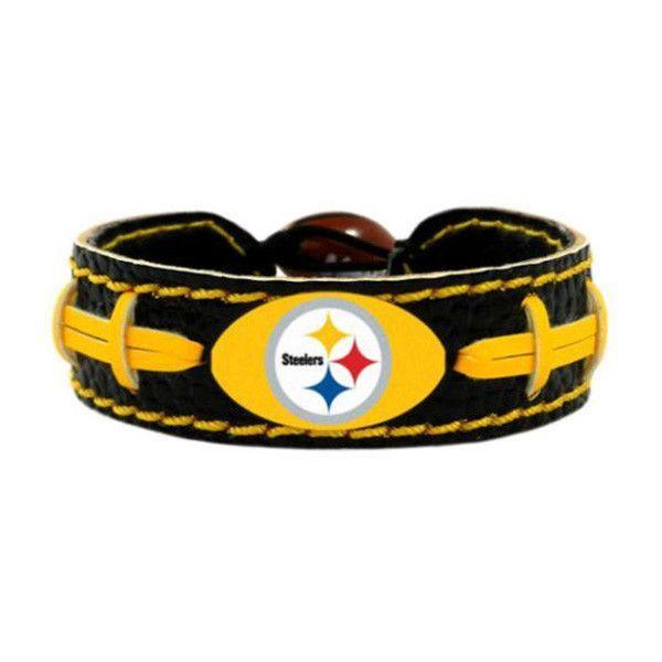 Pittsburgh Steelers Leather Football Bracelet