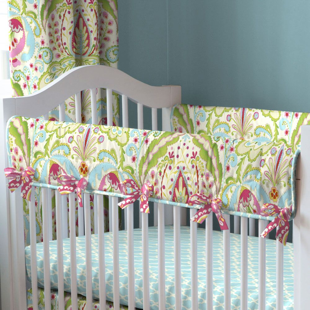 Kumari Garden Crib Rail Cover Carouseldesigns Baby Girl