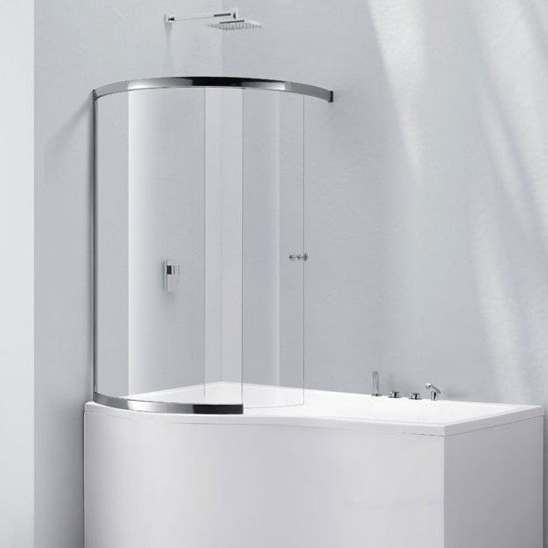 Amazing Curved Shower Screens Over Bath Contemporary