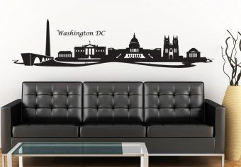 Washington Dc Cityscape Wall Decal The Capital Of