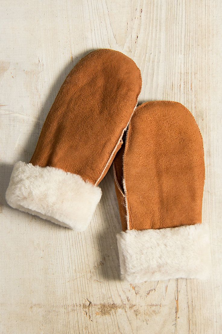 90fc1bb47e7 Shearling Sheepskin Mittens | Accessories | Mittens, Leather working ...