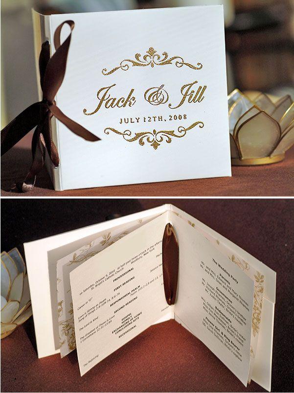 DIY Project: Programs that double as a CD   Wedding programs, DIY ...