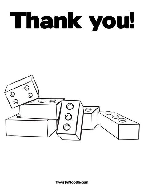 Thank You Coloring Page Lego Coloring Pages Birthday Coloring Pages Free Coloring Pages