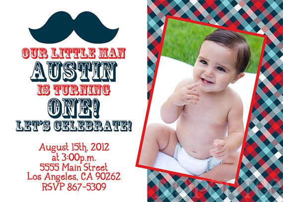 Little Man Mustache Invitation by dpdesigns2012 on Etsy, $10.00
