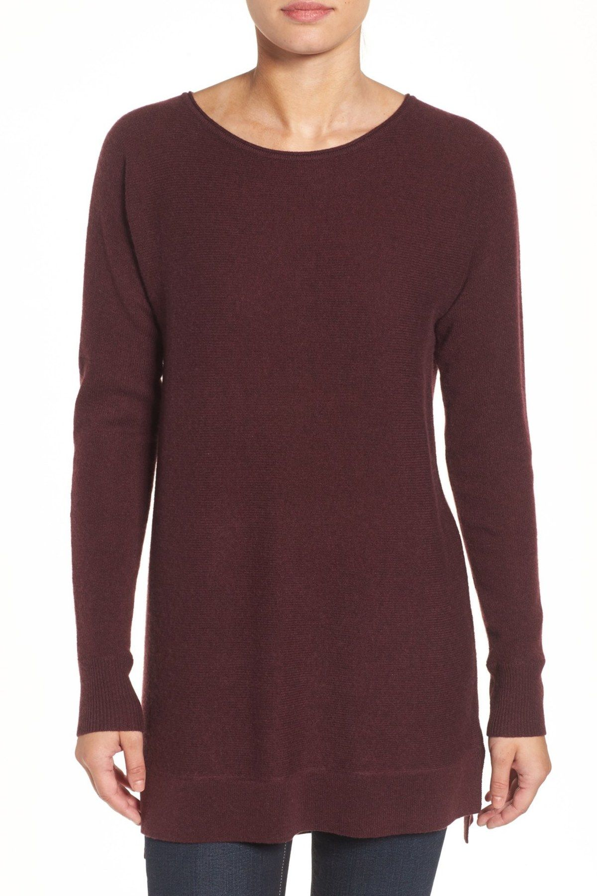 High/Low Wool & Cashmere Tunic Sweater (Regular & Petite) | Shops ...