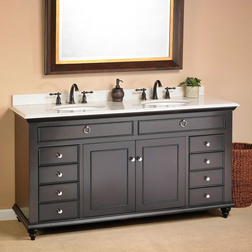 "Double Bathroom Sink Tops mayfield 60"" double sink vanitymission hills®$1099.99"