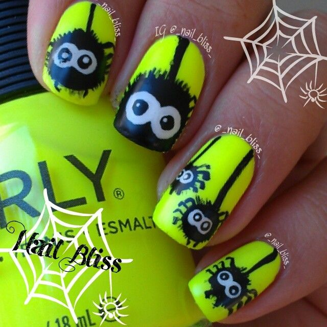 halloween by _nail_bliss_ #nail #nails #nailart | Uñas chivas ...