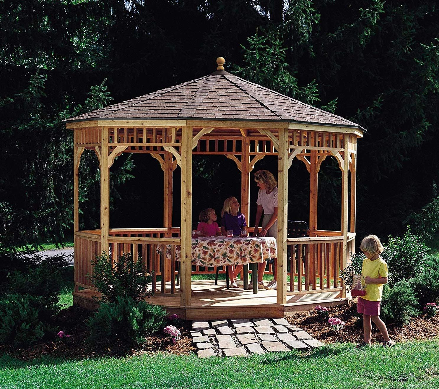 Wooden Gazebo With Images Round Gazebo Patio Gazebo Wood Patio