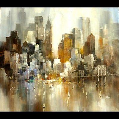 Tableau Peinture Moderne New York 6 Jpg 400 400 Pixels