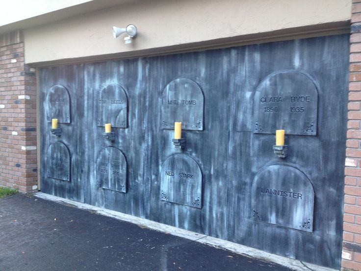 cool idea for your garage door eerie acres cemetery is almost doneu2026