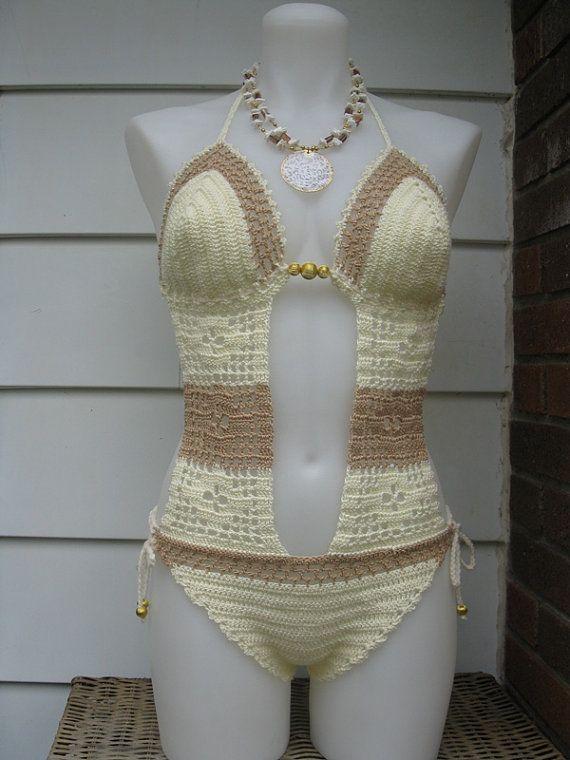 Buttercup Crochet Monokini by Shorah on Etsy