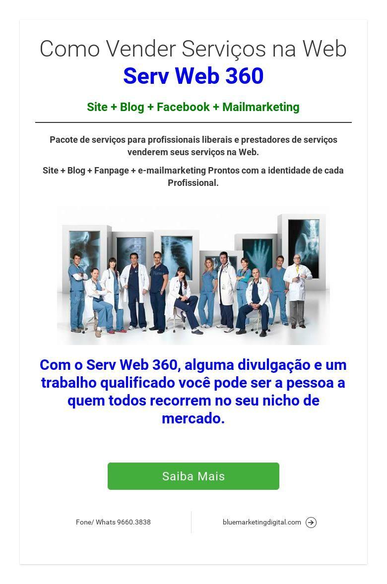 Como Vender Serviços na WebServ Web 360Site   Blog   Facebook   Mailmarketing