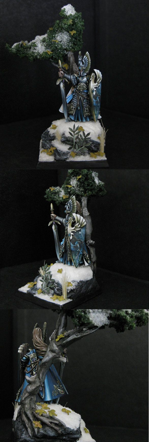 Absolutely beautiful free hand painting of high elf hero by