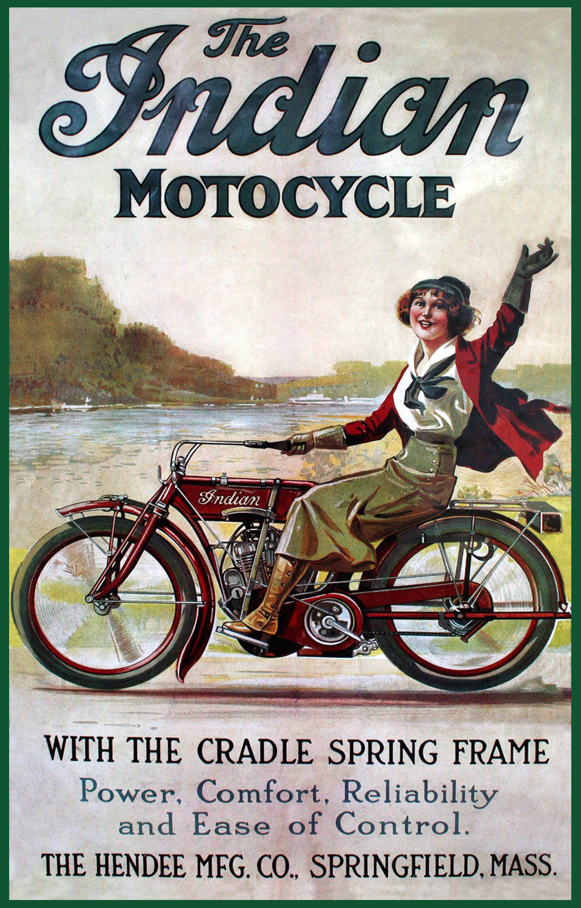 A Ride Through 100 Years Of Motorcycle Advertising Vintage