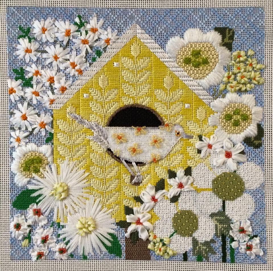 Pin de pattie johnson en Needlepoint   Pinterest   Flores bordadas ...