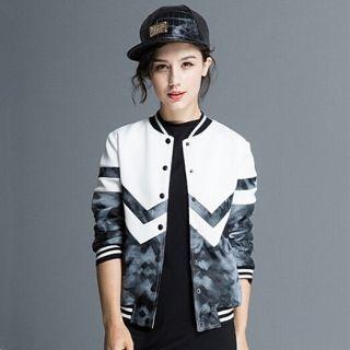 Geometric jacket XXL personalized womens bomber jacket for autumn