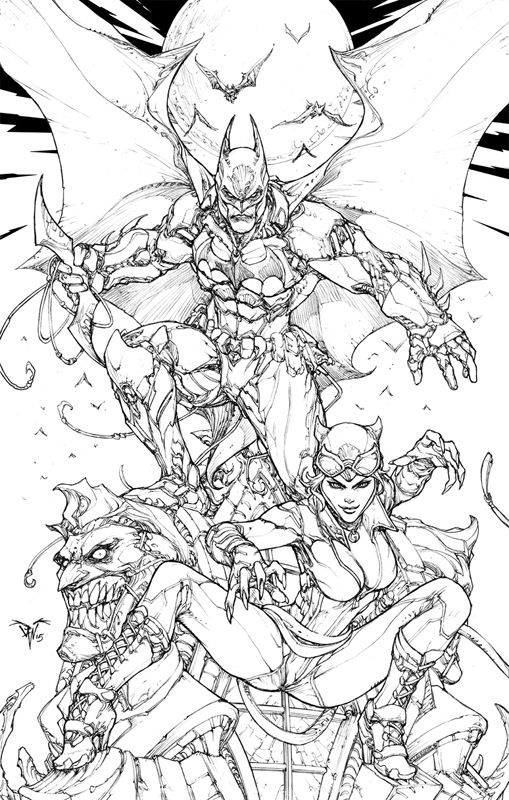 Paolo Pantalena Batman Arkham Knights Comic Art