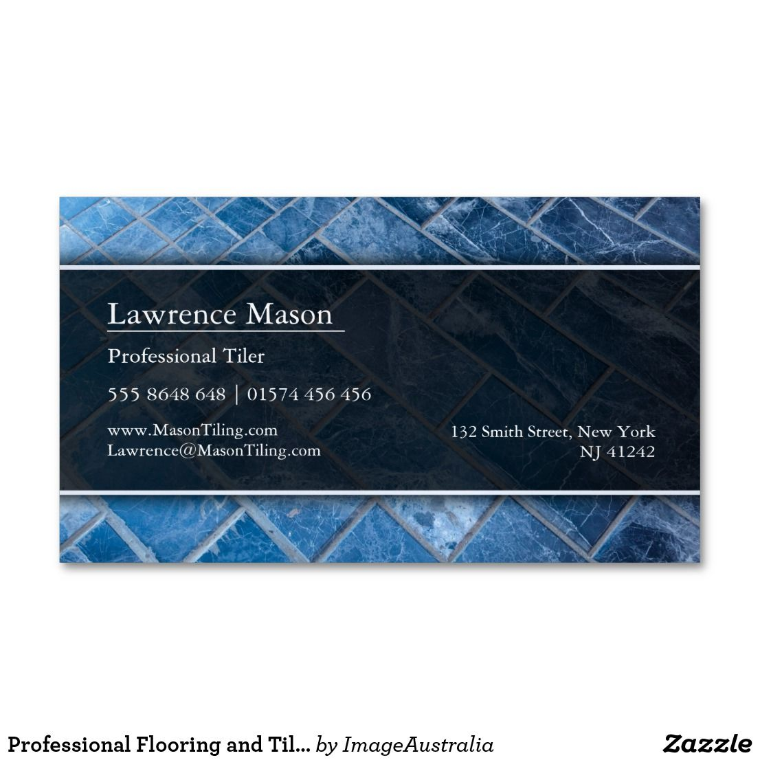 Professional Flooring And Tiler Business Card Zazzle Com Tiler Magnetic Business Cards Company Business Cards