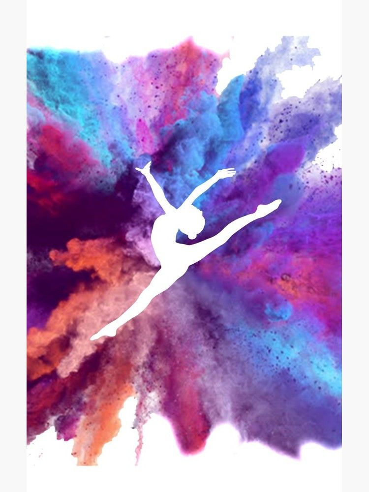 Gymnast Rainbow Explosion Throw Pillow By Flexiblepeople Gymnastics Wallpaper Gymnastics Wall Art Gymnastics Posters