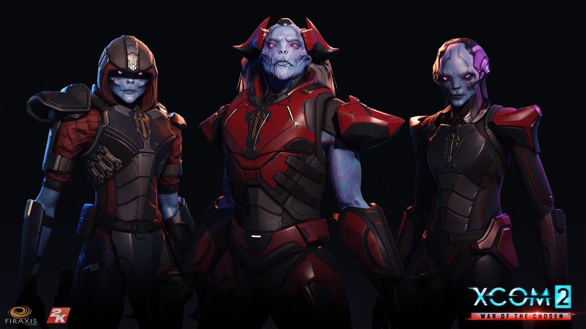 ArtStation 2 War of the Chosen Chosen heads