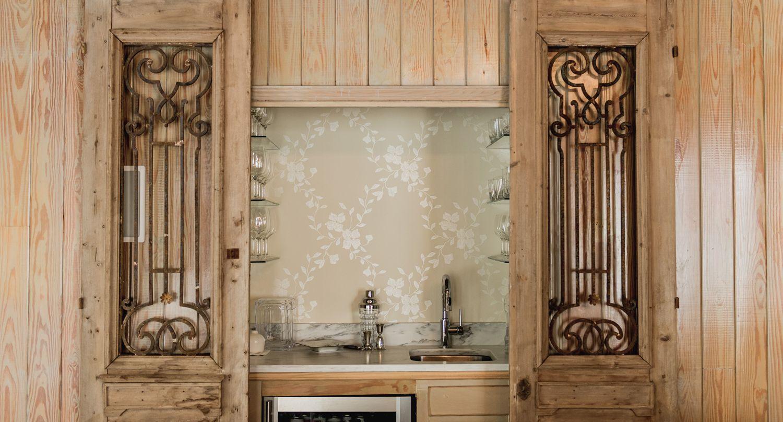 PH Company | Building U0026 Design | Mobile, AL Antique Doors, Bar With  Wallpaper