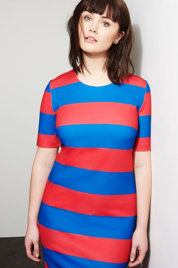 Bold Stripe T-Shirt Dress | French Twist Collection | Women's Plus Size Fashion | ELOQUII