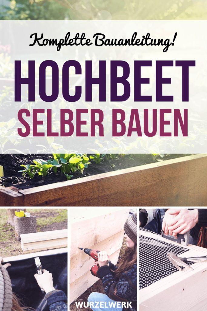 Hochbeet aus Holz selber bauen: Einfache Bauanleitung #kräutergartenpalette