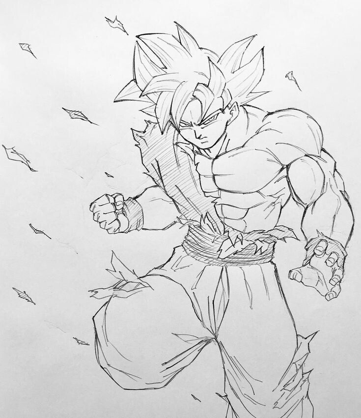 Dragon Ball Super Ultra Instinct Drawing: Pin By Sean Conner On Dbz Art