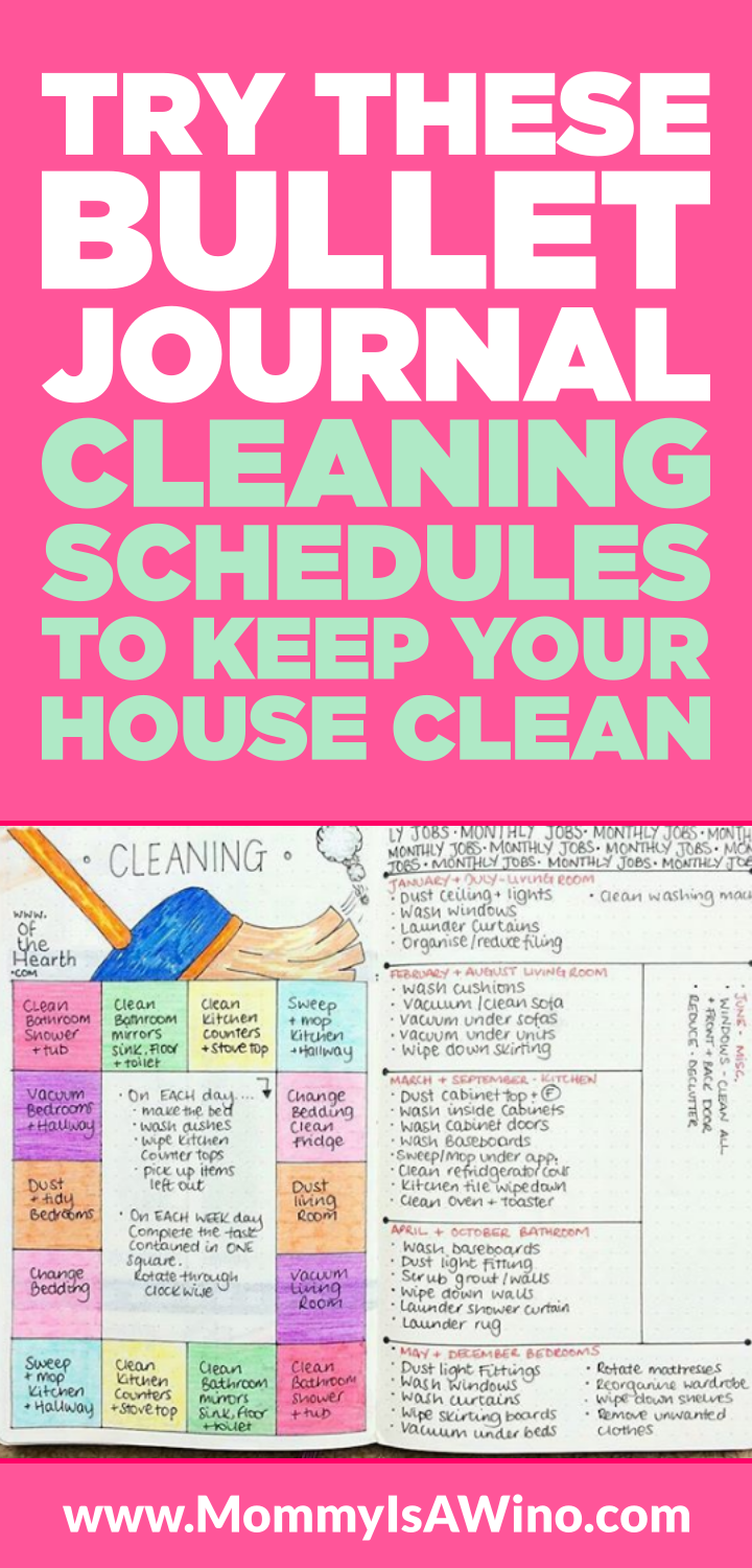Bullet Journal Addict - 18 Bullet Journal Cleaning Schedules
