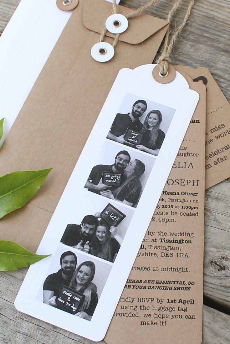 Photo Booth wedding invitations, great idea! Digital