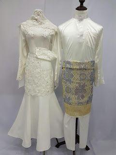 Baju nikah tunang murah online baju nikah putih Baju gamis putih murah