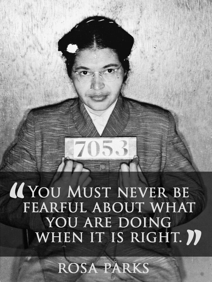 Rosa Parks sacrificed her freedom for others. She did this by refusing to give up her seat to a white person, which sent her to jail.