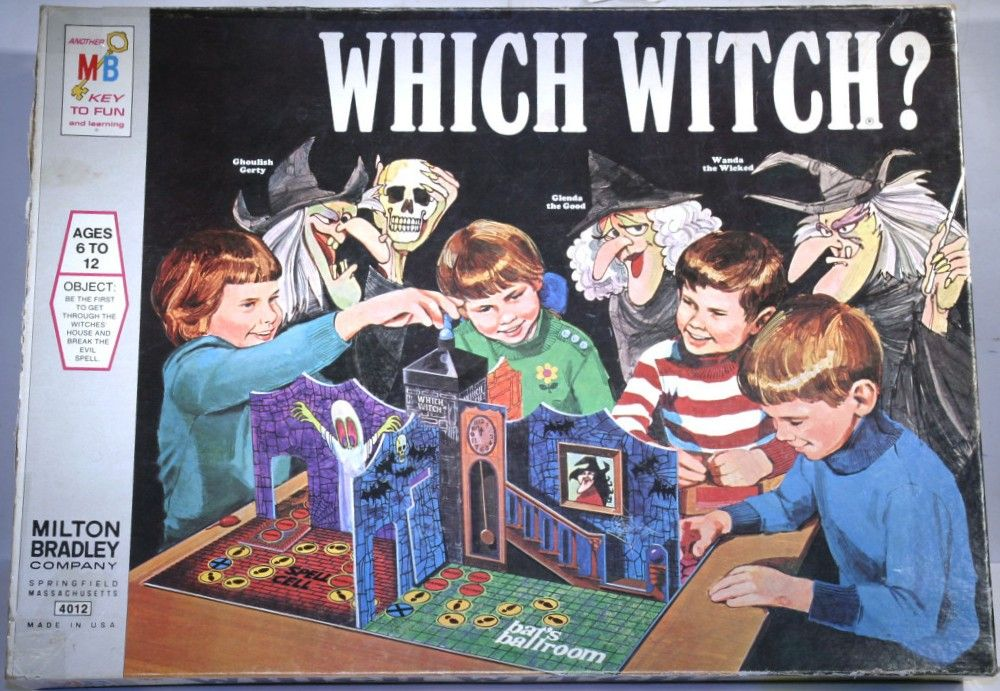 MILTON BRADLEY 1970 Which Witch? Game Vintage Games