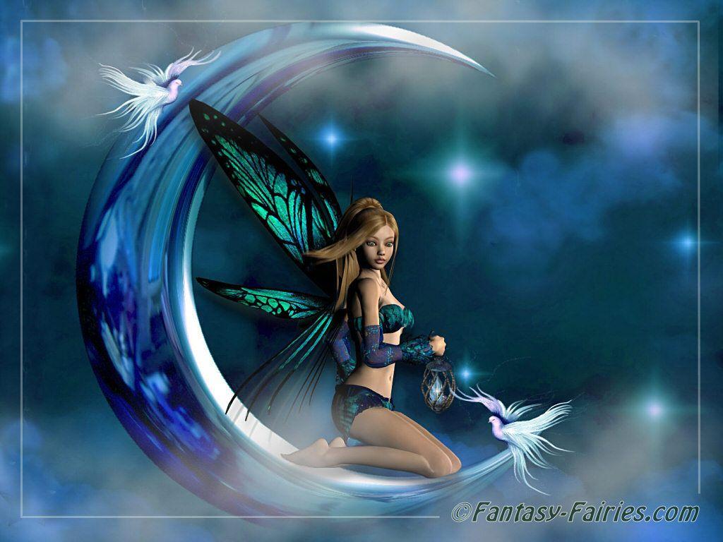 Fairies Wallpaper: Moon Fairy Wallpaper ...