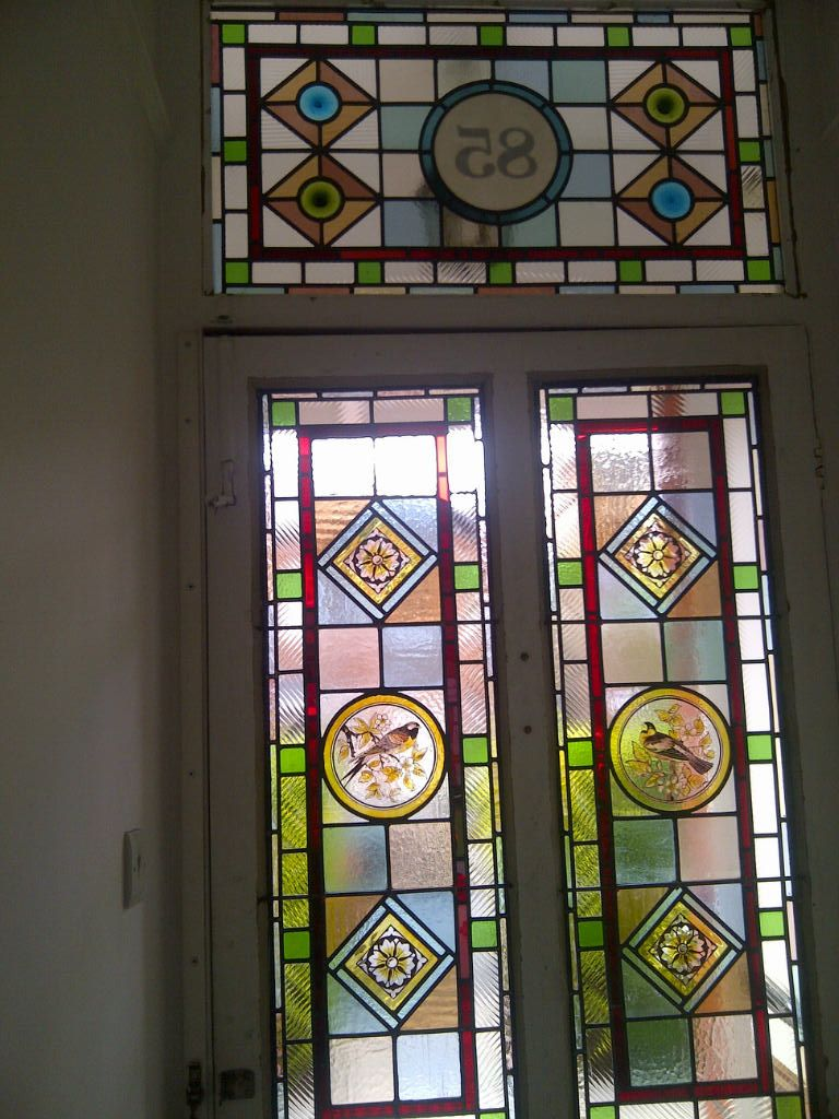 victorian stained glass window film