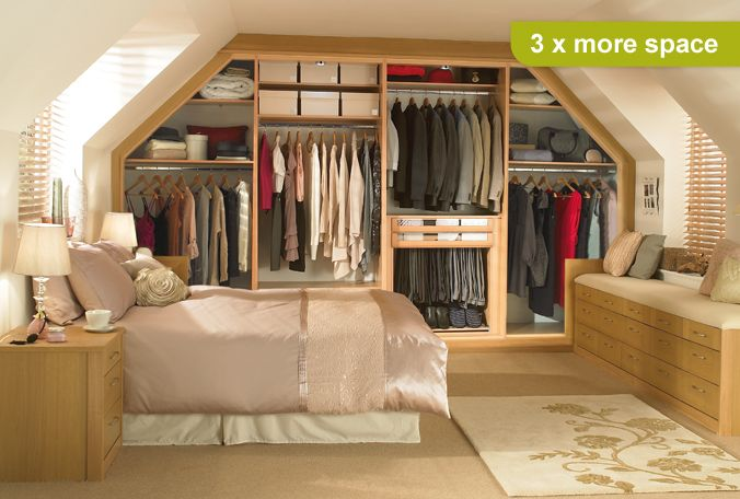 Space saving wardrobes wardrobes for sloping ceilings for Limited space storage solutions