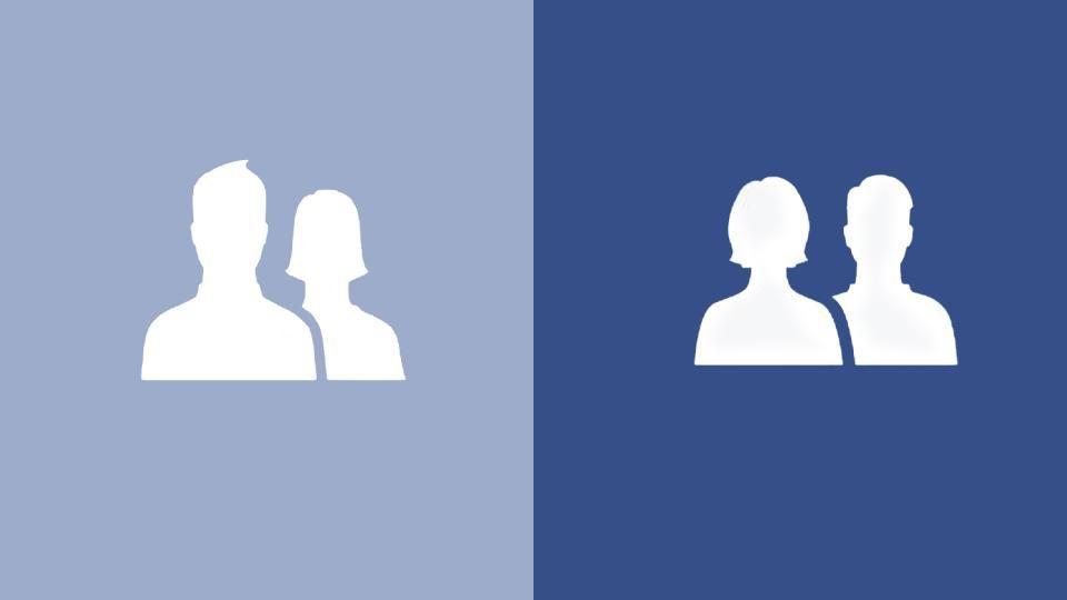 Links alt, rechts neu: Facebook hat sein Freunde-Symbol geändert