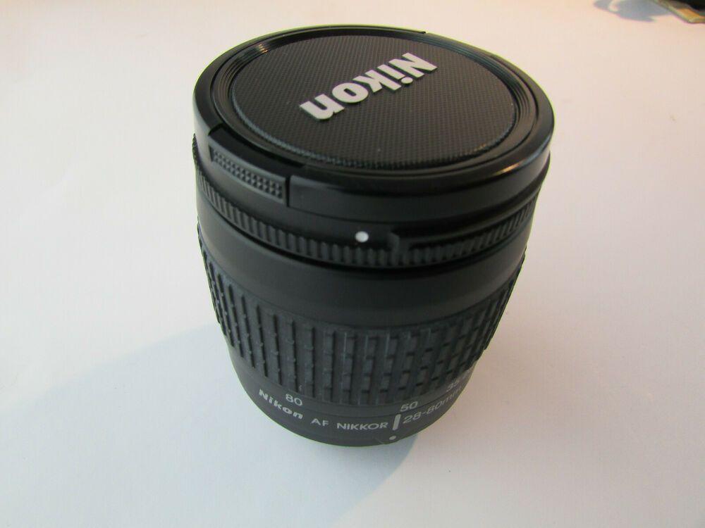 Nikon 28 80mm Af Nikkor Lens 1 3 3 5 6 G Black W Caps Fast Free Ship Nikon Vintage Cameras Tripod Collars Mounts Nikon