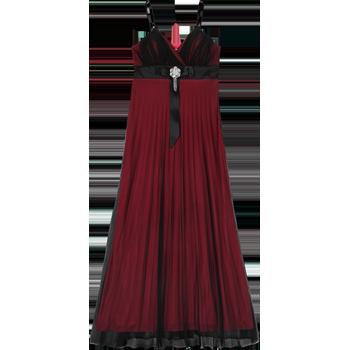 Nina Ferre Modelo 8157 Vestido Largo De Mesh Con Tablones