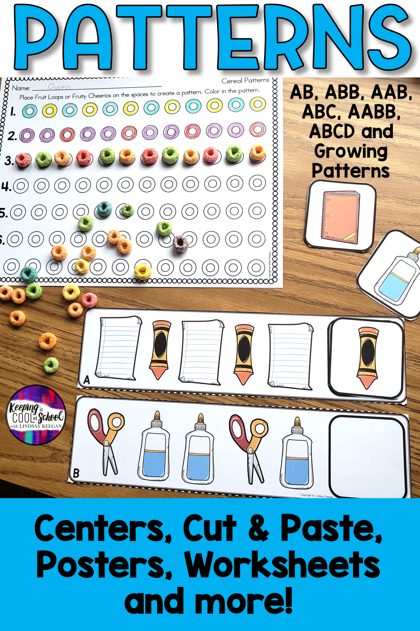 Patterns Worksheets Activities And Centers In