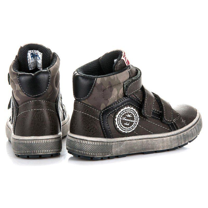 Buty Sportowe Dzieciece Dla Dzieci Americanclub Szare Obuwie Sportowe Nad Kostke American Club