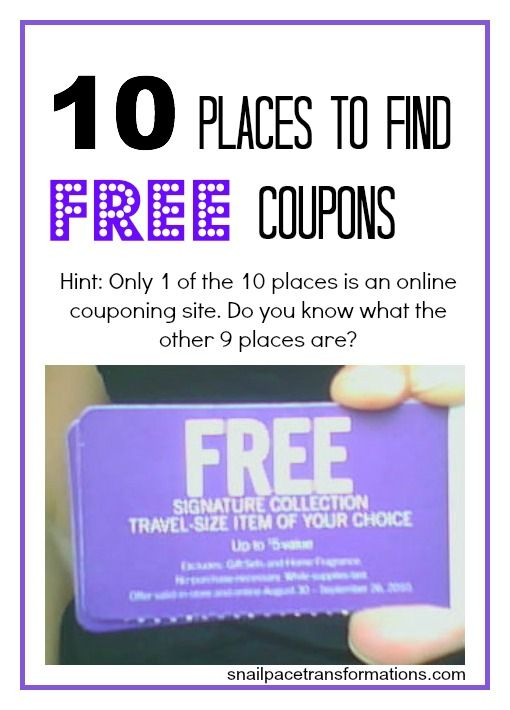 where to find free coupons: some of these places might surprise you ...