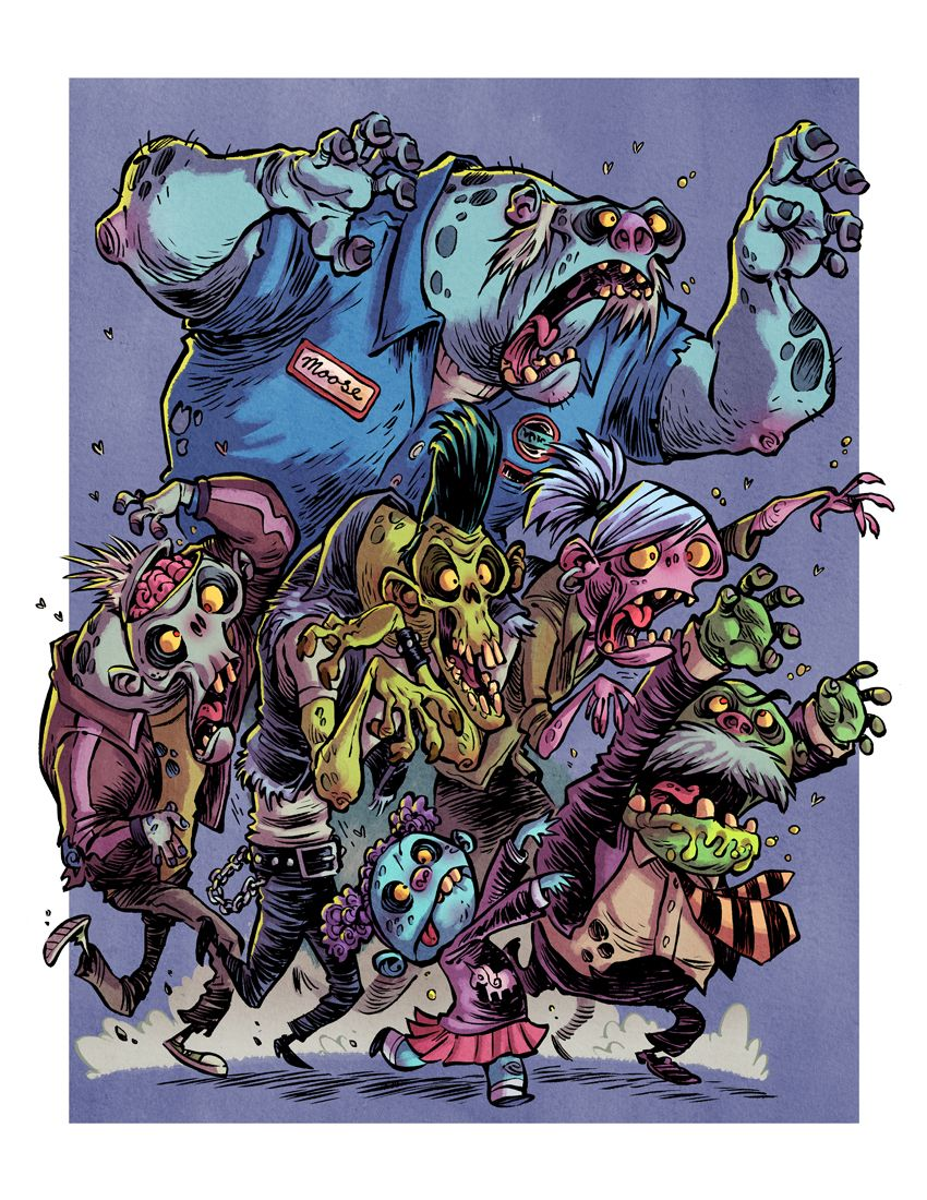 I Hate Zombies: Zombie Horde by RobbVision.deviantart.com on @deviantART